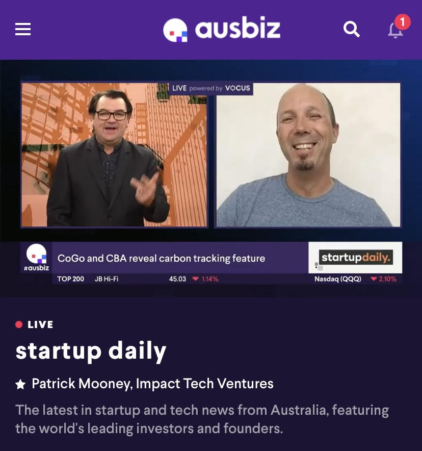 CoGo features on Startup Daily Show